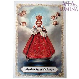Menino Jesus de Praga - Pacote c/ 100 Santinhos de Papel