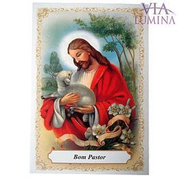 Bom Pastor - Pacote c/ 100 Santinhos de Papel