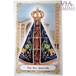 Nossa Senhora Aparecida - Basilica - Pacote c/ 100 Santinhos de Papel