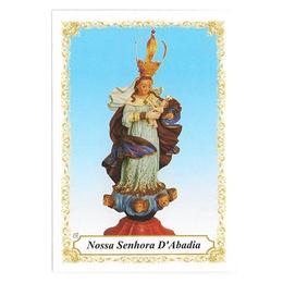 Nossa Senhora da Abadia - Pacote c/ 100 Santinhos de Papel