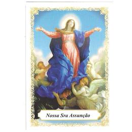 Nossa Senhora da Assunção - Pacote c/ 100 Santinhos de Papel