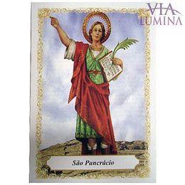 São Pancrácio - Pacote c/ 100 Santinhos de Papel
