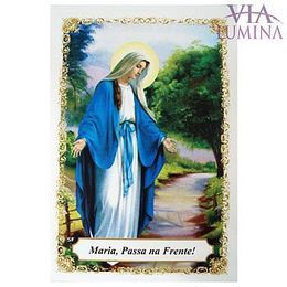 Maria Passa na Frente - Pacote c/ 100 Santinhos de Papel