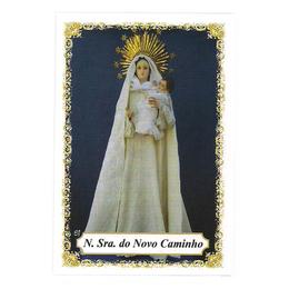 Nossa Senhora do Novo Caminho - Pacote c/ 100 Santinhos de Papel