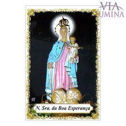 Nossa Senhora da Boa Esperança - Pacote c/ 100 Santinhos de Papel