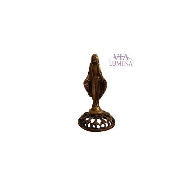 Nossa Senhora das Graças - Metal - 5cm - Ouro Velho