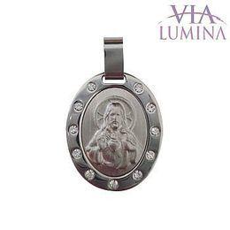 Medalha em Foto Inox - Sagrado Coração de Jesus - 30mm