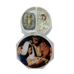 Kit Noite Feliz - Terço e Menino Jesus (Foto na Tampa)