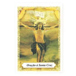 Oração à Santa Cruz - Pacote c/ 100 Santinhos de Papel