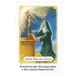 Coroa de Santa Rita de Cássia - Pacote c/ 100 Santinhos de Papel